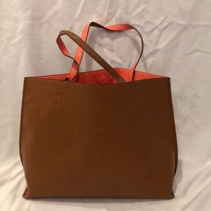Reversible Contrast Tote Bag